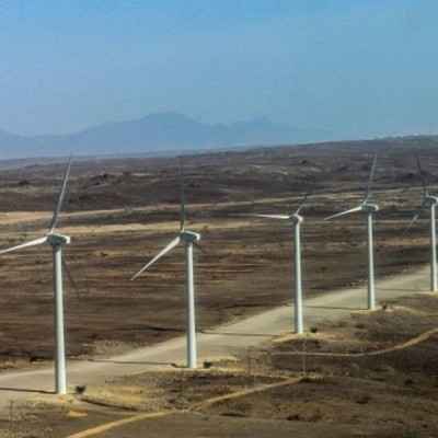 tWind mills at Loyangalani area in Turkana County